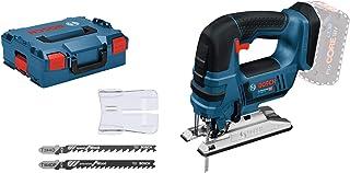 Bosch Professional 18 V System Scie Sauteuse sans-Fil GST 18 V-LI B (à Poignée Étrier, Profondeur de Coupe Bois/Alu/Métal:...