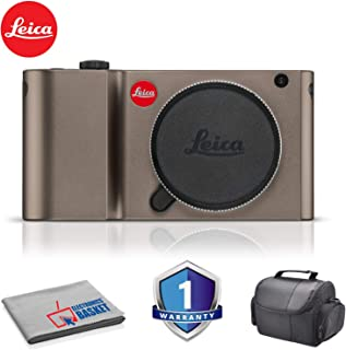 Leica TL Mirrorless Digital Camera (Titanium) RENEWED - Bundle with Carrying Case and More