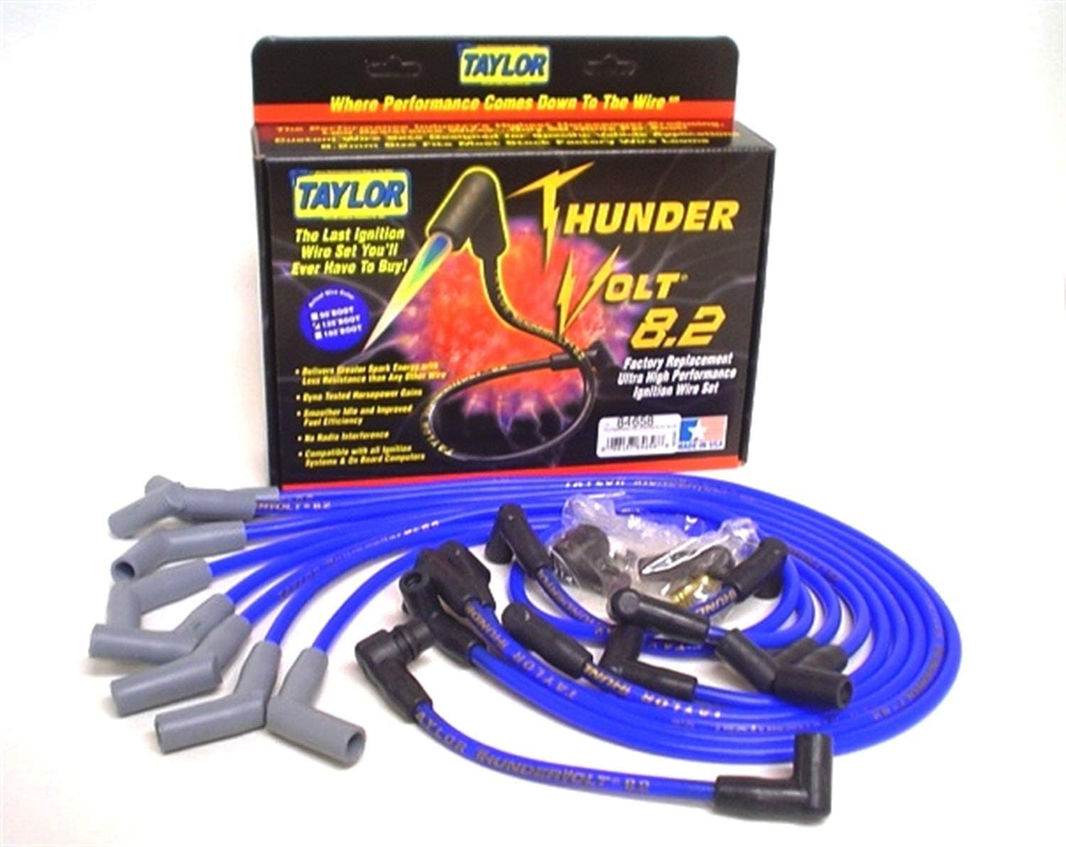 Clearance SALE Limited time Taylor Cable 84658 Blue 8.2mm Fit Custom ThunderVolt Ultra High 100% quality warranty!