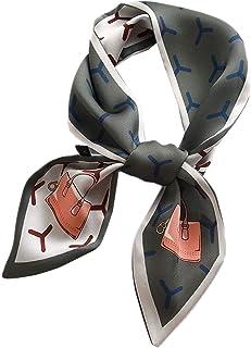 Long Silk Feeling Skinny Scarf,Neckerchief Handbag Hair Ribbon Scarf Bracelet Gift For Women