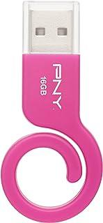PNY 16GB Monkey Tail Pink USB Flash Drive (P-FDU16GMNKP-GE)