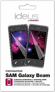 Ideus ppbeam – displayskyddsfolie och rengöringsduk för Samsung Galaxy Beam (2 stycken), transparent