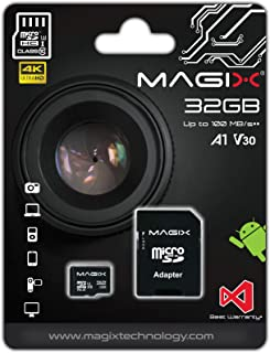 Micro SD Card MAGIX 4K Series Class10 V30 + SD Adapter UP to 100MB/s (32GB)