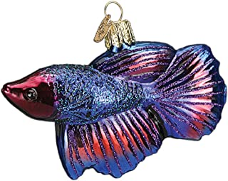 Old World Christmas Fish Collection Glass Blown Ornaments for Christmas Tree Betta