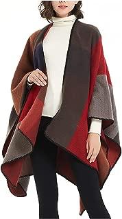 ilishop Women's Winter Reversible Oversized Blanket Poncho Cape Shawl Cardigans