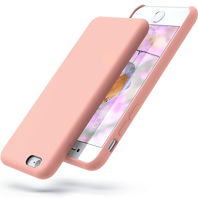 PowerBear Silicone iPhone 6s Case/iPhone 6 Case Soft Touch Liquid Silicone Gel Rubber Case   Shock Absorption and Anti Scratch Finish   for The Apple iPhone 6/6S - Pink