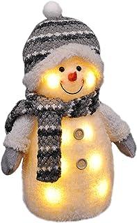Gravidus Deco Bałwan Z Oświetleniem Led Figurka Bożonarodzeniowa, Biały