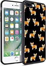 Matcase for iPhone 7 Plus Case iPhone 8 Plus Case - Corgi Dog Pattern Hard Clear Transparent Anti Scratch Resistance with Full Protection TPU Bumper Designer Case