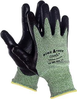 دستکش کار مردانه Ultra Strong - برای کار در فضای باز ، مکانیک و باغبانی - با چسب پیشرفته پیشرفته ، فناوری ضد لغزش - با دوام ، خنک و راحت - دستکش ایمنی مردانه. (بزرگ)