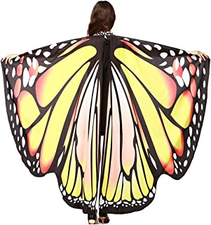 RETWICE Butterfly Wings Shawl, Halloween/Christmas Party Prop Soft Fabric Costume Accessory for Women Adult Girls