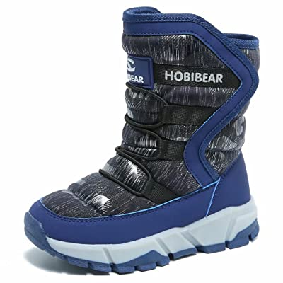 BODATU Boys Snow Boots Outdoor Waterproof Winte...