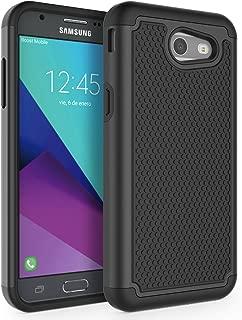 Case for Samsung Galaxy J3 Emerge / J3 2017 / J3 Prime / J3 Mission / J3 Eclipse / J3 Luna Pro/Sol 2 / Amp Prime 2 / Express Prime 2, SYONER [Shockproof] Defender Phone Case Cover [Black]
