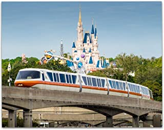 Walt Disney World The Orange Monorail - 11x14 Unframed Art Print - Makes a Great Gift Under $15 for Disney Fans