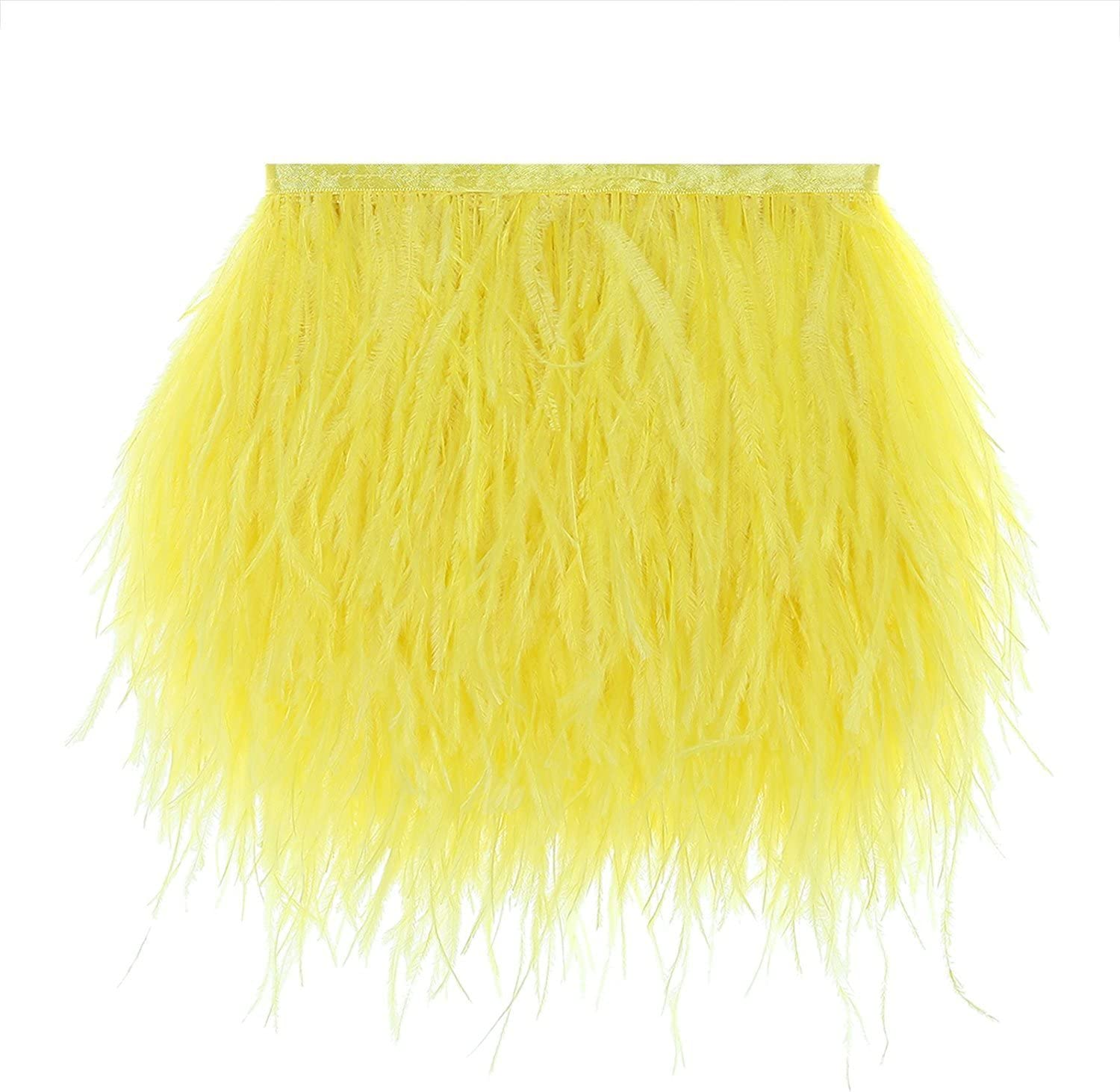 CENFRY Deluxe Pack of 10yards Columbus Mall Ostrich Dress Feathers Sewin Trims Fringe