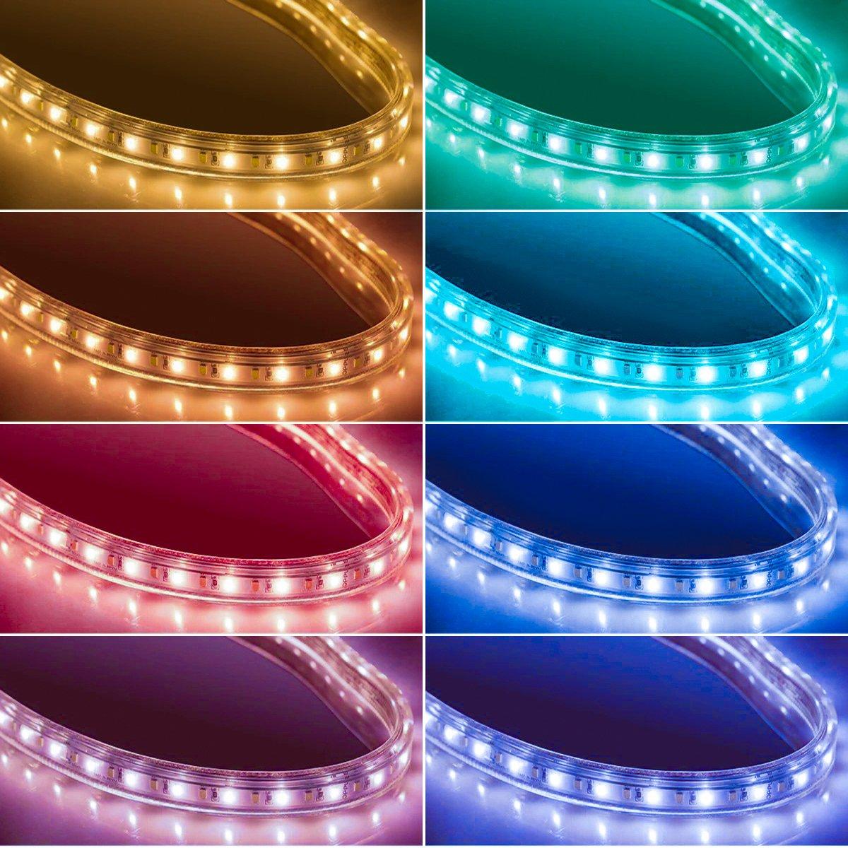 Tiras LED Iluminación (78.7in / 2m. en 4 bandas), EveShine RGB TV LED operadas con mando a distancia para Televisores de 40 a 60 pulgadas - Reduce el cansancio visual y aumenta