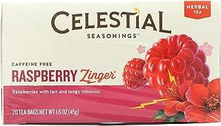 Celestial Seasonings Herbal Tea Caffeine Free Raspberry Zinger - 20 Tea Bags
