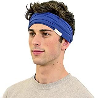 KOOSHOO Organic Headband for Men Proudly Made in The USA While Paying Fair Wages | Ideal Men's Headband for Working Out, Yoga and Sports