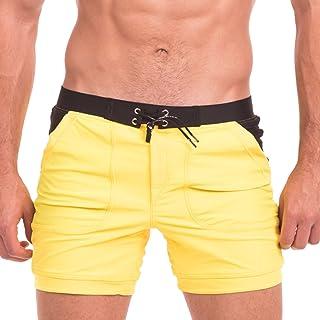 Taddlee Swimwear Men Sexy Swimsuits Swim Briefs Bikini Surf Boxer Trunks Shorts (S) Yellow