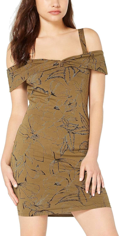 GUESS Women's Cold-Shoulder Bodycon Dress