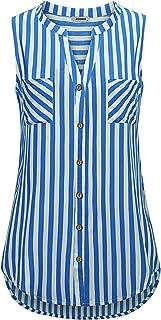 JCZHWQU Women's Sleeveless Button Down Summer Casual Blouse Shirt