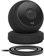 Logitech Circle Wireless HD Video Security Camera with 2-way talk - Black - (Renewed)