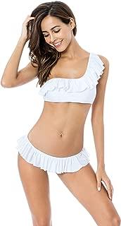 Women's Ruffle One Shoulder Bikini Swimsuit Set Flounce Swimwear
