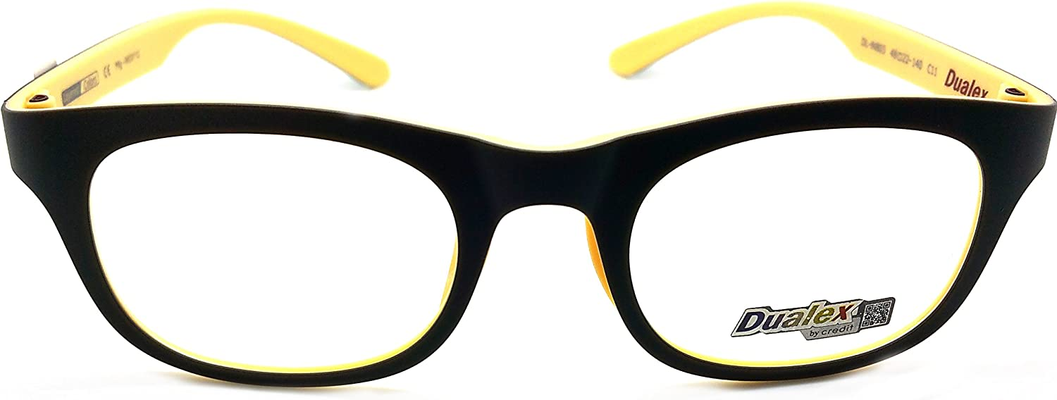 Dualex Prescription Eyeglasses Frame Super Light, Flexible DL IN 803 C11