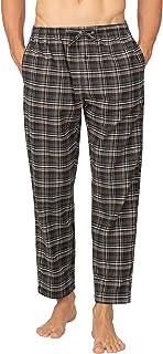 LAPASA Uomo Pantaloni da Pigiama in 100% Puro Cotone/Flanella Abbigliamento da Notte Stampa a Quadretti M38&M39