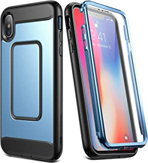 YOUMAKER Case for iPhone Xs Max, Full Body with Built-in Screen Protector Heavy Duty Protection Shockproof Slim Fit Cover ...