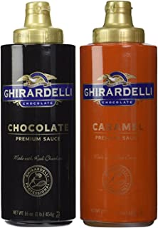 Ghirardelli Chocolate (16oz) & Caramel (17oz) Sauces in Squeeze Bottles