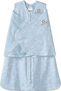 HALO 100% Cotton SleepSack Swaddle, Lime Animal Friends, Newborn
