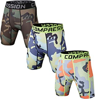 Holure Men's 3 Pack Performance Compression Shorts