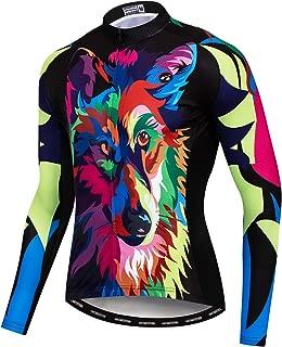 Men's Cycling Jersey Long Sleeve Pro Brand Team Reflective Bicycle Shirts Jacket Bird Skull