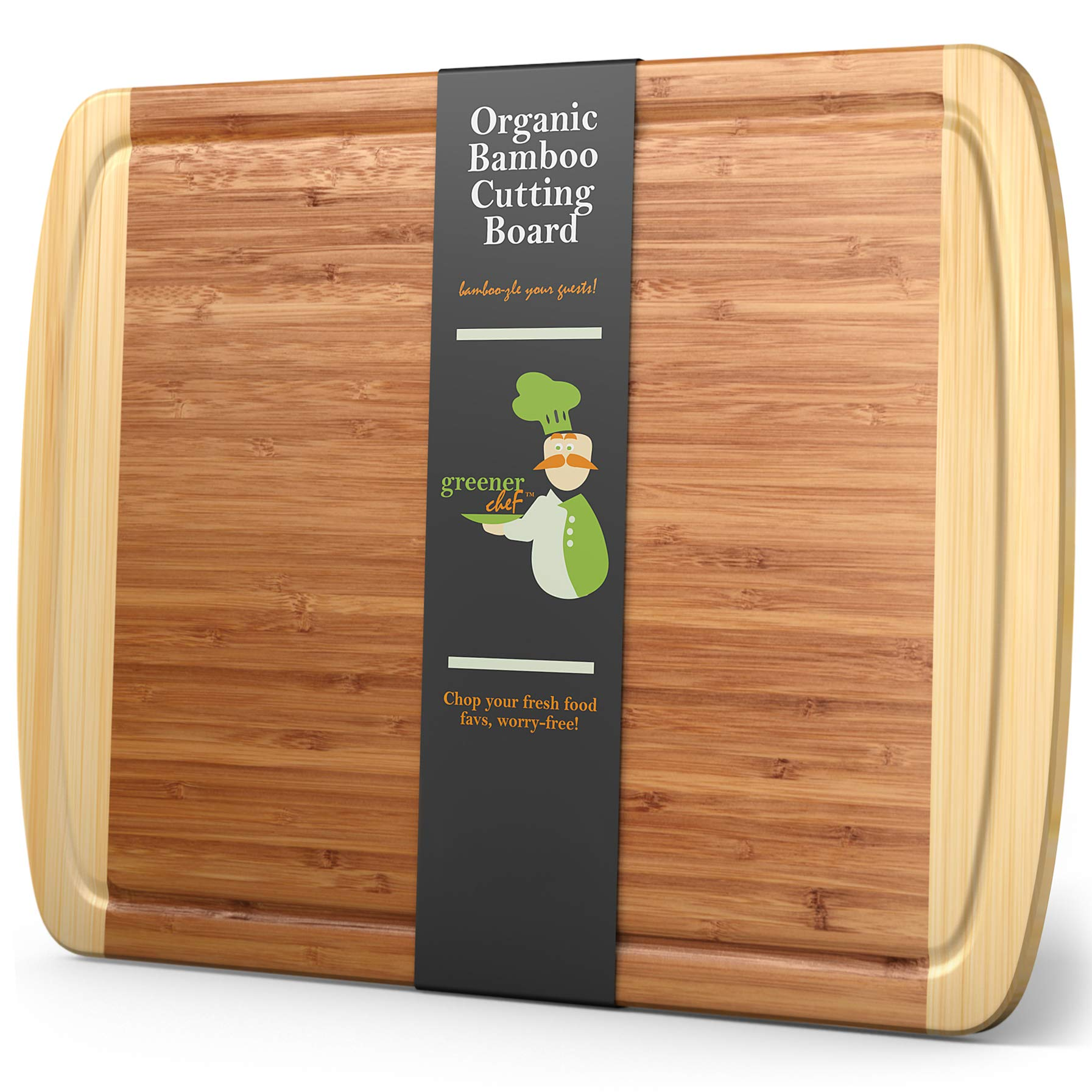"""Extra Large Bamboo Cutting Board - XL Wood Cutting Board - 18 x 12.5"""" - Chopping Board for Meat and Vegetables - Extra Lar..."""
