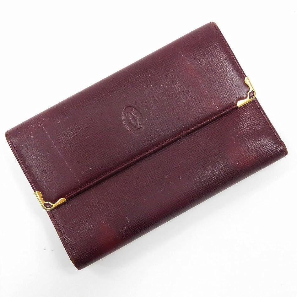オーラル床を掃除する愛撫[カルティエ] Cartier 二つ折り財布 レザー X14775 中古