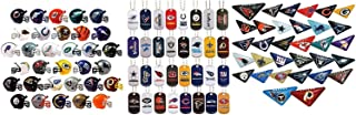 Mini Nfl Football Helmets, Table TOP Footballs, and Dog Tags Complete Sets of 32 Each, Total 96 Licensed Items CUSTOM BUNDLE BY DISCOUNT PARTY AND NOVELTY TM