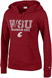 9b9361044b1 Champion NCAA Women s Comfy Fitted Sweatshirt University Fleece Hoodie  Washington State Cougars Small