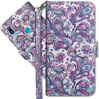 Huawei Y6 2019 Wallet case, COTDINFORCA Embossed Butterfly Pattern flip Card Set Cash Leather case, Advanced PU Body case for Huawei Y6 2019 / Y6 Pro 2019.