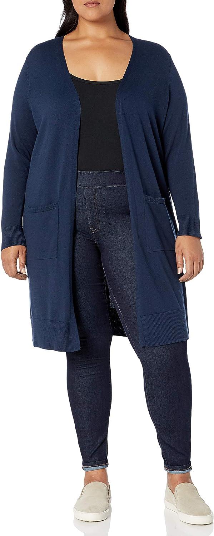 Amazon Essentials Women's Plus Size Lightweight Longer Length Cardigan Sweater