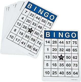 Fun Express - Jumbo Bingo Cards - 25 Pcs - Toys - Games - Carnival & Bingo - 25 Pieces