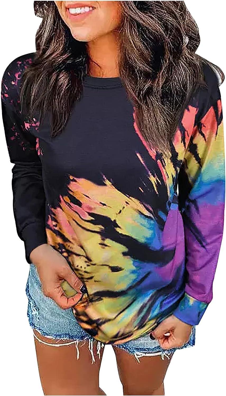 Women's Pullover Long Sleeve Fall Hoodies Color Block Tunics Loose Casual Sweatshirts