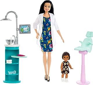 Barbie Dentist Doll & Playset, Black Hair
