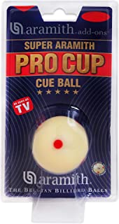 Aramith Super Pro-Cup Pool Cue Ball 2 1/4 6 Red Dots in a blister