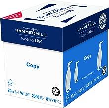 Hammermill Paper, Copy Paper Poly Wrap, 8.5 x 11 Paper, Letter Size, 20lb Paper, 92 Bright, 5 Ream Case / 2,500 Sheets (180400C) Acid Free Paper