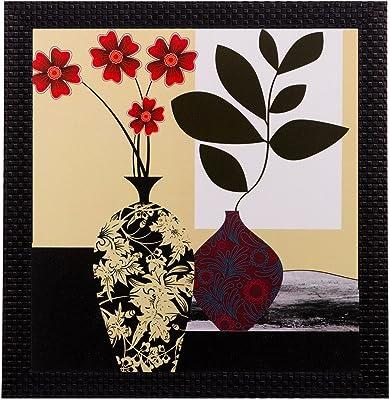 eCraftIndia 'Botanical' UV Art Painting (Synthetic Wood, 28 cm x 28 cm, Matt Texture, FPGK1131_A)