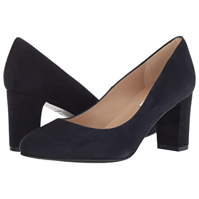 L.K. Bennett Sersha Wide (New Navy Suede) Women