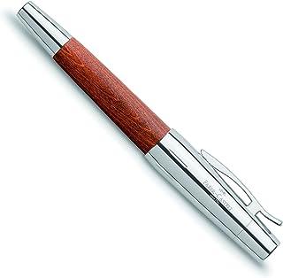 ファーバーカステル 万年筆 F 細字 エモーション ウッド&クローム 梨の木 ブラウン 148201 正規輸入品