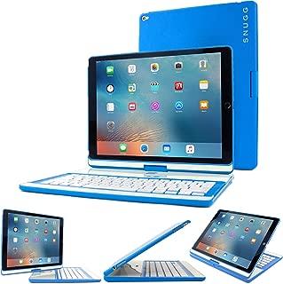 iPad Pro 12.9 2017/2015 Keyboard, Snugg [Blue] Wireless Bluetooth Keyboard Case Cover 360° Degree Rotatable Keyboard for Apple iPad Pro 12.9 2017/2015