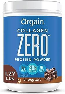 Orgain Grass Fed Hydrolyzed Collagen Peptides Zero Protein Powder - Chocolate Flavor, 0g Sugar, Pasture raised, Dairy Free...