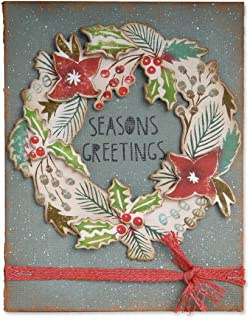 Sizzix Seasons Greetings Framelits Dies with Cling Stamps by Tim Holtz, 8-Pack